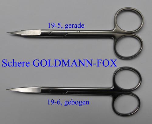 Schere Goldmann- Fox